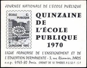 Ecole Publique - Carnet 1970 - 1A