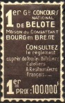 22-01 - Bourg - 1938 - Concours belote