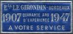 02-33 - Bordeaux - 1947 -  Pub.