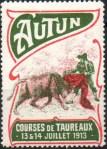 05-71 - Autun - 1913 - Courses taureaux