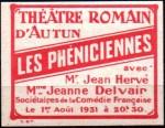 05-71 - Autun - 1931 Phéniciennes