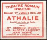 05-71 - Autun - 1933 Athalie