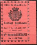 05-71 - Chalon s Saone - Festival Beethoven 1928