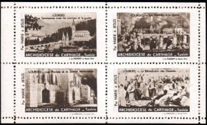 16-65 - Lourdes - Bloc de 4