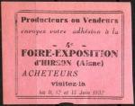 19-02 - Hirson - Foire 1932