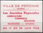 19-80 - Péronne - 1950 Journées