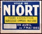 20-79 - Niort - 1923 - Foire