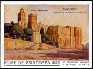 21-84 - Avignon - CP Foire 1929