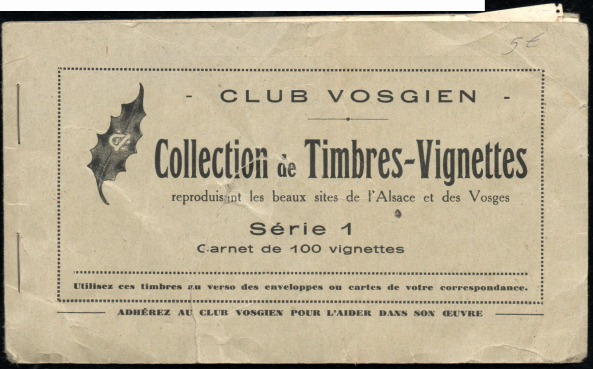 Carnet Club vosgien - Série 1 - 1A