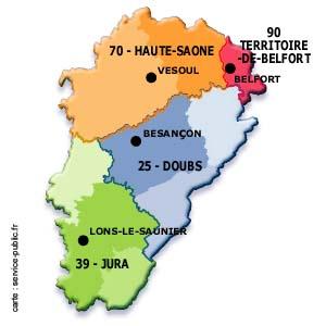 Carte Franche-Comte