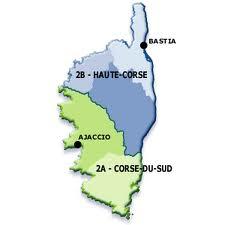 Carte région Corse