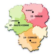 Carte région Limousin
