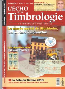ECHO DE LA TIMBROLOGIE OCT 13 N° 1877