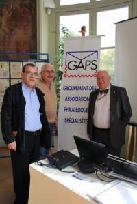 Le stand GAPS Gérard de MORANT, Alain CAMELIN et Michel LETAILLIEUR