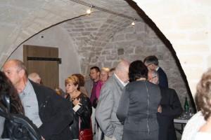 Le Vin d'Honneur de l'Inauguration dans les caves du Château les Invités