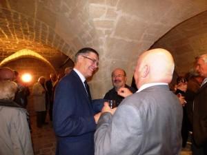 Le Vin d'Honneur de l'Inauguration dans les caves du Château Charles KIDDLE, Eddy De BRUYNE et Michel LETAILLIEUR