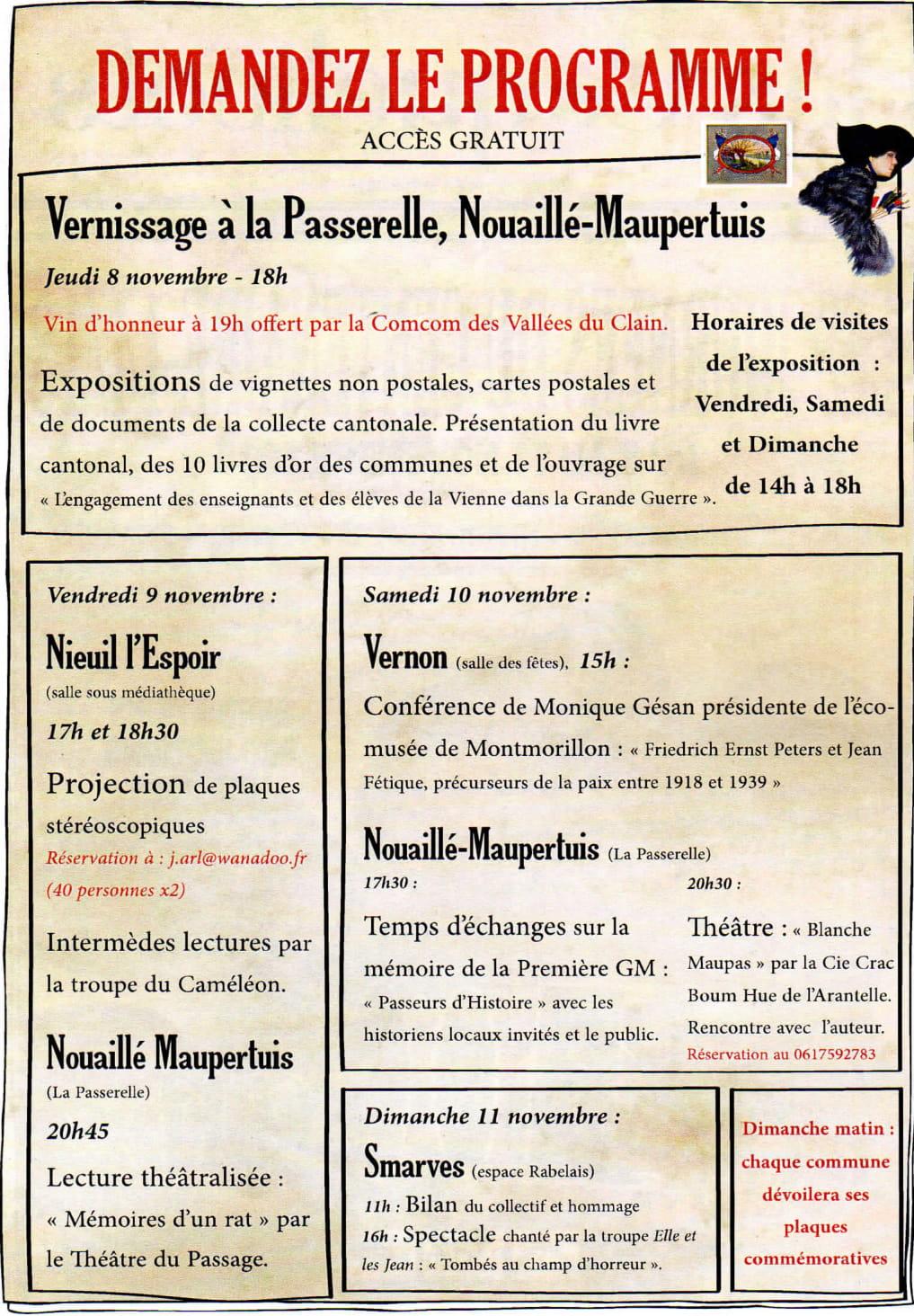 EXPOSITION NOUAILLE MAUPERTUIS PROGRAMME-1